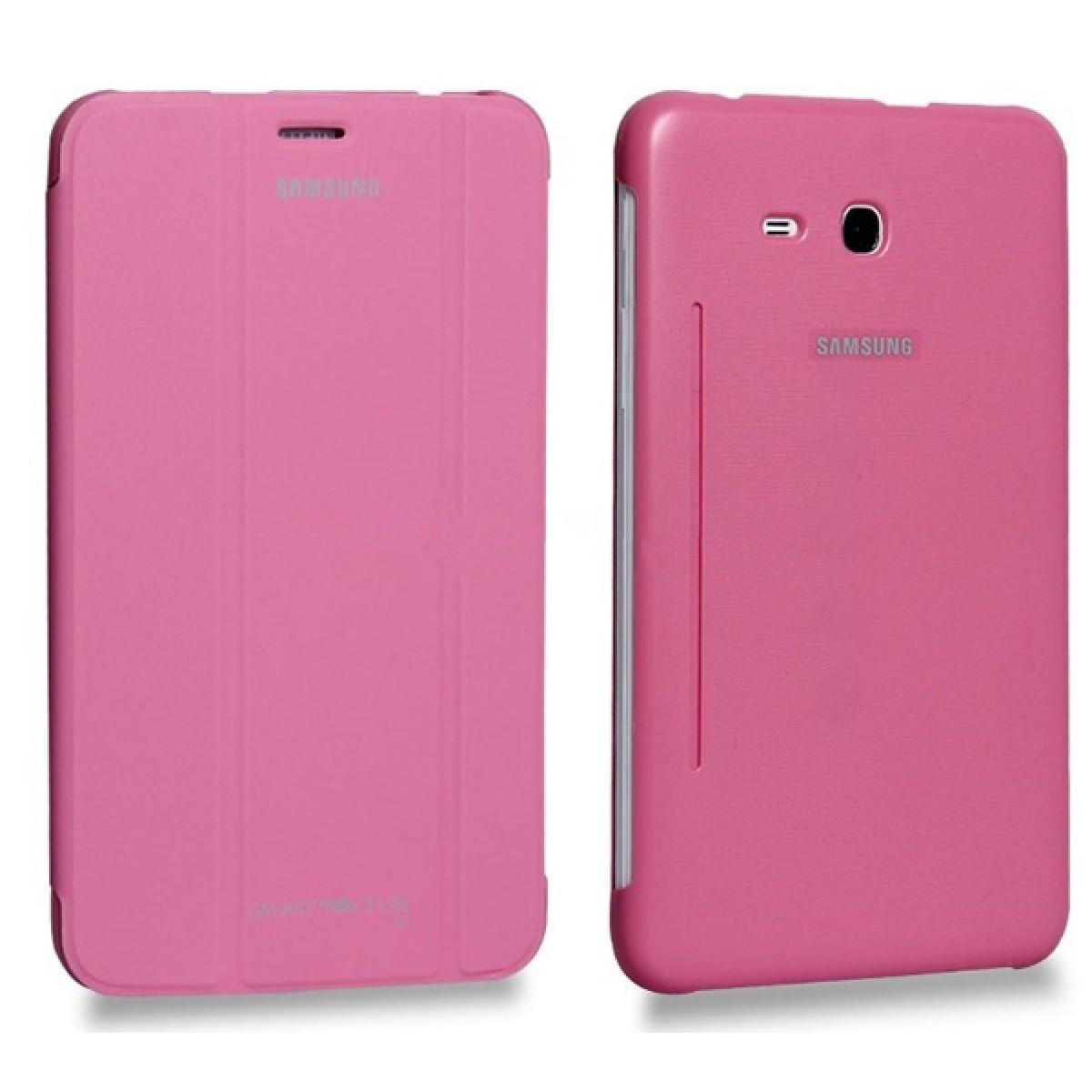 Samsung Galaxy Tab3 Neo T111 Pink Flip Cover Tab 3 Lite White